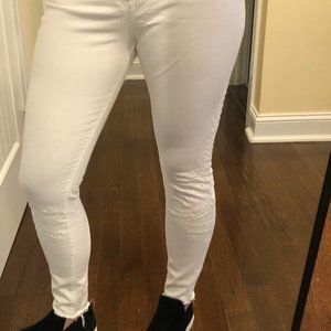 Express White Ankle Skinny Jeans/Legging